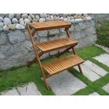 4 Tier Wood Plant Stand Shelf Flower Pot Planter Holder Outdoor Patio Decor  New | Planters, Patios And Shelves