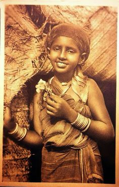Vintage photo of a Somali girl