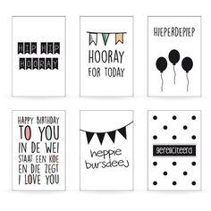 Set verjaardagskaarten