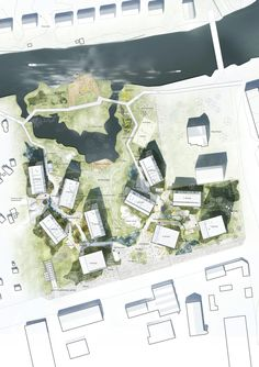 Gallery of C.F. Møller's Proposal for the Örebro Timber Town Blurs the Line…