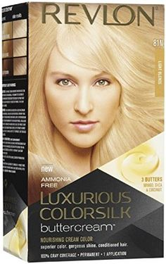 Revlon ColorSilk Luxurious Buttercream Haircolor, 81N Light Blonde (Pack of 2) >>> Want to know more, click on the image.