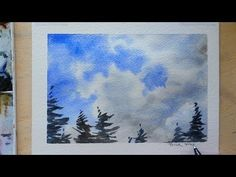How to paint Clouds with just 2 colors. Watercolor quick and easy. Peter Sheeler - YouTube