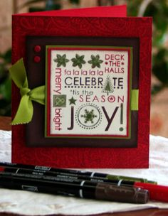 Stampin Up Season of Joy Christmas card. #stampinupaustralia #stampinup #clairedaly #stampinupcards #christmascards