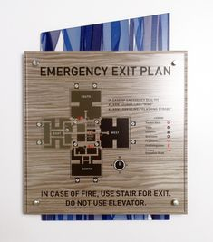 Fusion Evacuation Map Interior Sign with Backer.  #signage