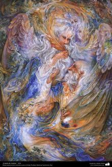 "<3<3 ""Through self"" 2004<3<3  Masterpieces of Persian miniature - Artist Professor Mahmud Farshchian"
