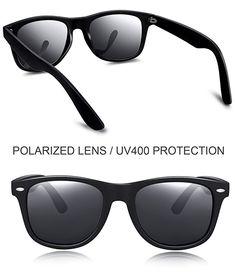 b4341c087c Joopin Unisex Polarized Sunglasses Classic Men Retro UV400 Brand Designer  Sun glasses (Black