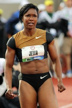 Carmelita Jeter trying to get here, one day I will