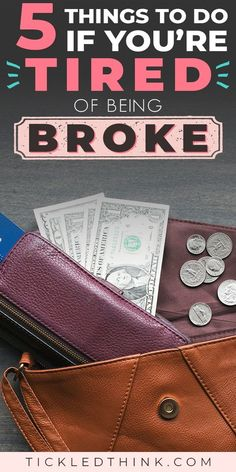 Sick and tired of being broke? Click through to learn easy and effective ways to finally stop being broke, so you can start saving more money, finally get out of debt, live debt free and achieve financial security. Financial Stress, Financial Literacy, Financial Goals, Financial Planning, Ways To Save Money, Money Saving Tips, Saving Ideas, Money Tips, Money Savers