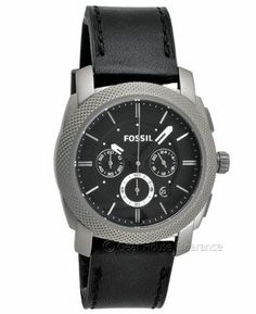 Fossil Mens Titanium Watch (NEW) Chronograph Black Face Leather Band, $295msrp | GearHouseClearance.com