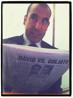 Rick catching up on current events.  Photo by Patrick J. Adams.