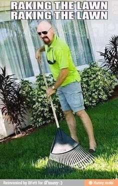 As a bass player I do a lot of raking too. Raking the lawn, raking the lawn! Just imagining Rob Halford of Judas Priest in those shorts makes me giggle =). Judas Priest, Music Memes, Music Humor, Rock Y Metal, Black Metal, Iron Maiden, Metal Bands, Rock Bands, Metal Meme