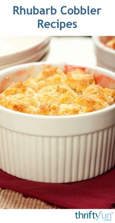 This page contains rhubarb cobbler recipes. The tart taste of rhubarb is perfect for making a delicious cobbler.