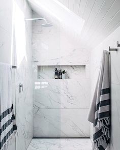 Simple classy timeless | Mums bathroom Reno is the bees knees She used ONE tile throughout #wallsandfloors its simple and effective ✌as featured in the latest @adoremagazine photo @hannahblackmore styling @aliceharriet11 #bonsmumsreno #appledoesntfallfarfromthetree