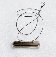 RMX Art Recycling \ Silence Chain \ Plexiglas and silver  \ Hand painting \ Tünde Pallagi