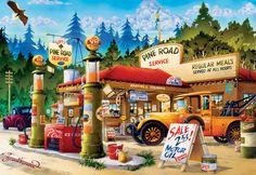 Pine road service by Hiro Tanikawa