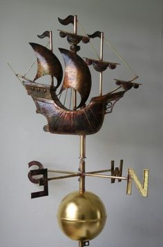 The art of the vane - Greens Weathervanes, UK    Now this is a full galleon, not a half galleon by any means.