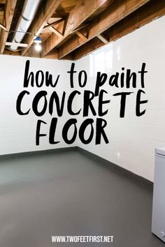 A fresh coat of paint can update a space and why not paint concrete floors to look spectacular. See the process of how to paint concrete floors with concrete paint. Painted Cement Floors, Painting Concrete Walls, Concrete Basement Floors, Painting Basement Floors, Concrete Block Walls, Cinder Block Walls, Plywood Floors, Concrete Countertops, How To Paint Concrete