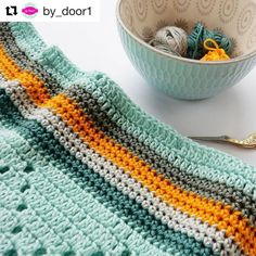 Happy Sunday everyone🤗. Today we wanted to share this lovely project by @by_door1 . We just love the color combination❤. What do you think? #yarnandcolors #musthave #musthaveminis #crochet #crocheting #knit #knitting #sunday