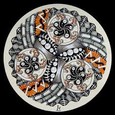 Lily's Tangles - Renaissance Zendala