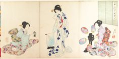 Chiyoda Castle (Album of Women) Artist: Yōshū (Hashimoto) Chikanobu (Japanese, 1838–1912) Period: Meiji period (1868–1912) Date: 1895