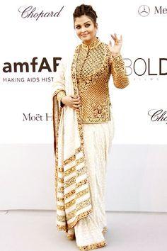 Aishwarya Rai Bachchan looked stunning in an Abu Jani Sandeep Khosla