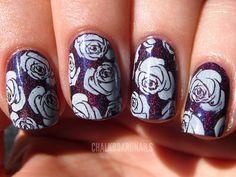Stamped rose pattern