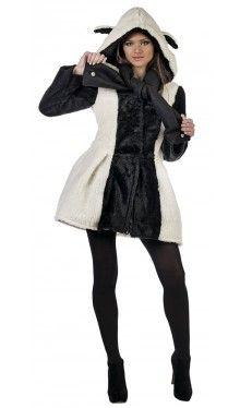 Schäfchen-Mantel Damenkostüm Deluxe