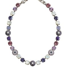 """Mariana Silver Plated Flower Shapes Swarovski Crystal Necklace, 18"""" Purple Rain 3044/1 M1062. Available at www.regencies.com"""