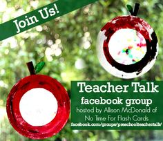 Preschool teachers - great new closed Facebook group focused on sharing and support. Resource sharing, advice from other teachers, and more!