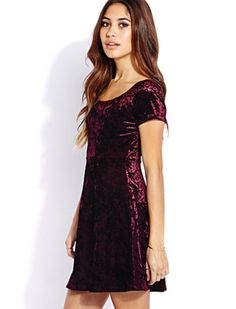 Enchanted velvet baby doll dress - forever 21