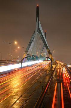 Zakim Bridge in Boston, Massachusetts