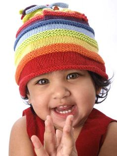 Rainbow hat $16.00 USD   100% Cotton Yarns Hand knitted and crocheted Warm and fun! Meets all U.S. Consumer Product Safety regulations  Fair trade Country of origin: Bangladesh