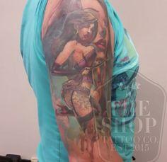 The Shop Tattoo Co best tattoo shop in toronto suicide girl tattoo realistic tattoo colour portrait tattoo