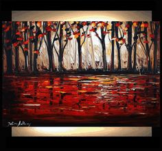 out on the lake ORIGINAL  Jolinas  one of a kind by jolinaanthony, $289.00