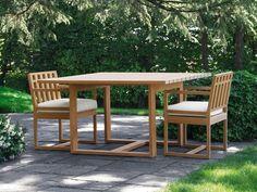 SQUARE Square garden table by Meridiani design Livia Pansera