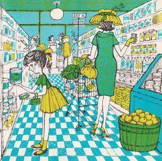 Don Madden - Retro Art - Vintage Art Family Illustration, Children's Book Illustration, Graphic Design Illustration, Illustration Styles, Art Vintage, Vintage Children's Books, Retro Art, Vintage Images, Vintage Style