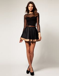 Love this! I am obsessed with sheer things right now.