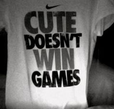 """By having the wordings """"cute doesnt win games"""" nike effectively encourage girls to get active and exercise. Being a sporting brand, Nike is providing brand engagement and encouraging girls to do sports effectively. Nike Store, Athletic Outfits, Athletic Wear, Athletic Clothes, Sporty Clothes, Clothes 2019, Clothes Sale, Comfy Clothes, Athletic Fashion"""