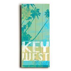 Florida Key West by Artist Cory Steffen Wood Sign