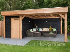I am really loving this design and usage. Incredible motivation if you're seeking concepts for Backyard Storage Sheds, Backyard Sheds, Backyard Patio Designs, Backyard Landscaping, Patio Gazebo, Outdoor Pergola, Outdoor Garden Rooms, Backyard Buildings, Patio Makeover
