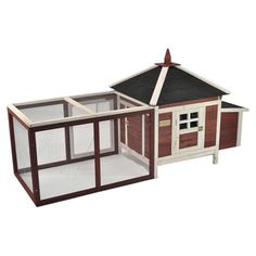 Advantek The Prairie Home Poultry Chicken Coop with Removable Roof