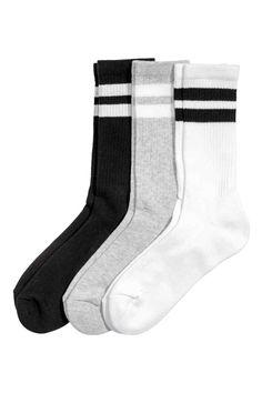 3 paria sukkia - Valkoinen - Ladies   H&M FI 1