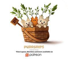 Day 1400. Purrsnips, Piper Thibodeau on ArtStation at https://www.artstation.com/artwork/rvQqm