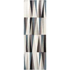 Hand-woven Grigny Flatweave Wool Runner (2'6 x 8') - Overstock™ Shopping - Great Deals on Runner Rugs