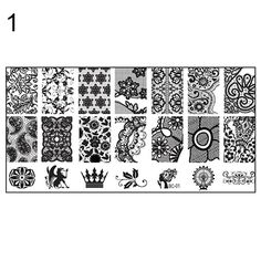 2016 10 New Design DIY Nail Art Image Stamp Stamping Plates Manicure Template Tool  7H6Z AUY6