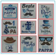 Fathers day Embroidery designs (AFRIKAANS) by EmbroiderByMADELEINE on Etsy Afrikaans, All Design, Fathers Day, Embroidery Designs, Bible, Etsy, Biblia, Father's Day, The Bible
