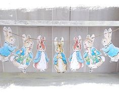 Peter Rabbit Banner..Baby by LittleGoodie2Shoes on Etsy