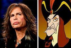 Has anyone else ever noticed the similarity between Steven Tyler and Jafar? #StevenTyler #Jafar #Aladdin