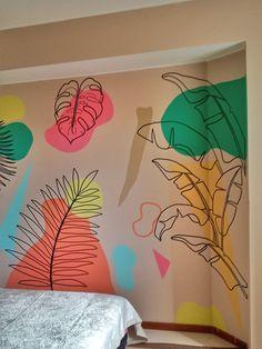 Bedroom Murals, Room Ideas Bedroom, Bedroom Wall, Bedroom Decor, Photo Wall Decor, Wall Decor Design, Wall Painting Decor, Mural Wall Art, Art Deco Home