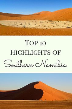Namibia is filled with stunning landscapes and beautiful nature. Top 10 highlights of Southern Namibia - Sossusvlei - Deadvlei - Fish River Canyon Travel Advice, Travel Tips, Travel Plan, Travel Guides, Cape Town, Volunteer In Africa, Safari, African Holidays, Africa Destinations